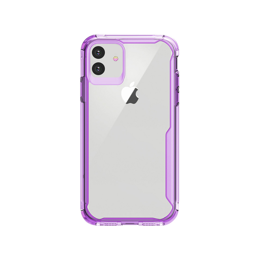 iPhone11 6.1 保護性抜群MILテスト済 ツートンクリアケース/X-Fitted X-DEFENDER