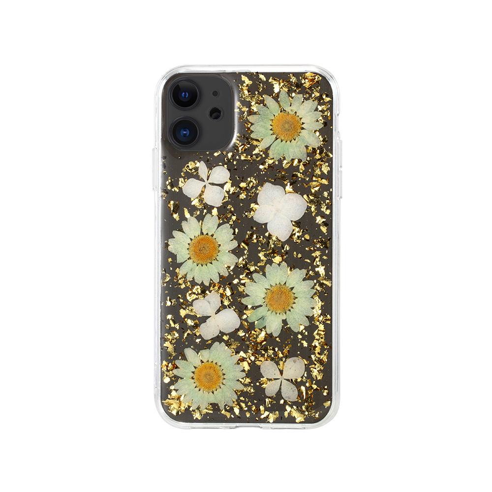 iPhone11 6.1 ケース ドライフラワーを散りばめた色鮮やかなケース/X-Fitted FLORA